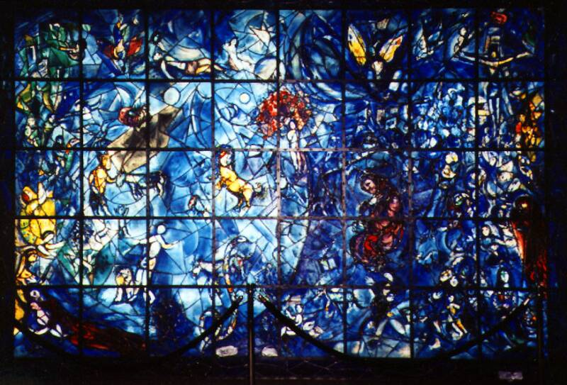 "Chagall: ""PEACE"", STAINED GLASS WINDOW"