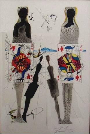 Dali: The Queen's Party, LE Lithograph