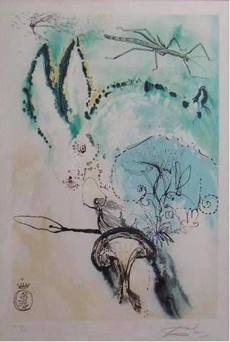Dali: Down the Rabbit Hole, LE Lithograph