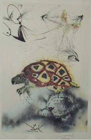 Dali: The Mock Turtle's Story, LE Lithograph