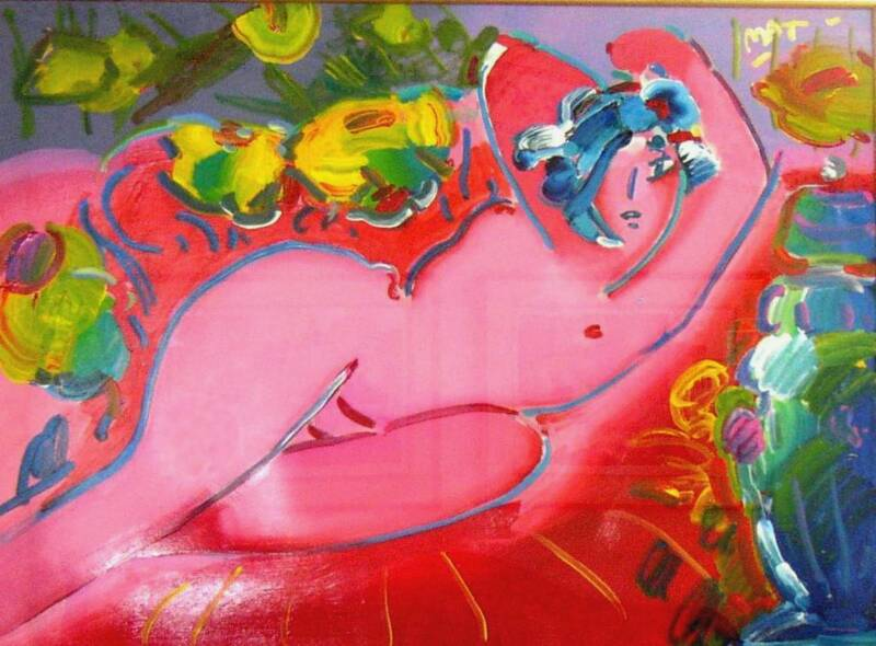 Peter Max_Nude Reclining In Red